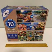 Brand New Family Multi Puzzle 10 Pack 4800 Total Pcs 1000 500 300 Landscapes