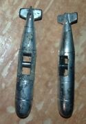 Vintage 1980s Toy Spaceship Submarine Sci-fi Rocket Ship Missle 2.5in Lot Of 2