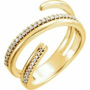 Diamond Negative Space Ring In 14k Yellow Gold 1/6 Ct. Tw.