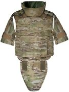 Xl Multicam Full Body Armor Plate Carrier Molle Tactical Vest 3a Kevlarr Incl