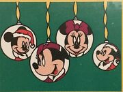 Lot Of 2 Vintage Mickey Minnie Mouse Pillowcases Christmas New Old Stock Usa