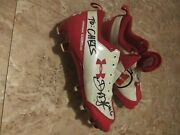 Utah Utes, Under Armour Autographed Football Cleats Darrell Mack 6 Running Back