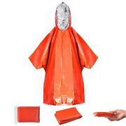 Emergency Rain Poncho And Mylar Space Blanket Thermal Raincoat Survival Wholesale