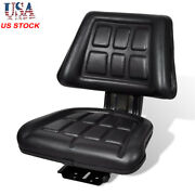 Universal Forklift Tractor Seat With Backrest Armrest Dumper Chair Replacement