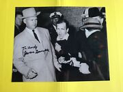 James Leavelle Signed 8x10 Photo Detective Cuffed To Lee Harvey Oswald Jfk