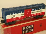 Lionel Pw 6464-275 State Of Maine Bangor Aroostook Boxcar With Box