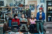 Big Bang Theory Cast-signed Picture Psa/dna Jim Parsons Kaley Cuoco Galecki Psa