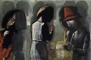 Charles Blackman Dreaming In The Street-big Archival Print Signed Framed + Coa