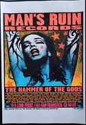 Blue Lady Man's Ruin Records Poster 1996 Kozik Blue Lady Based On Pearl Jam's...