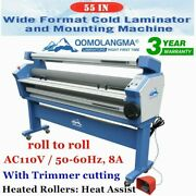 Usa 55in Full-auto Wide Format Cold Laminator Machine Heat Assisted Laminating