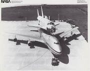 Nasa Photographs - Vintage Collectables - Orbiter Columbia On Top Of 747 Carrier