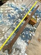Large Vintage Wrench 2andrdquo Open End 33andrdquolong / Implement Railroad Farm Heavy Duty