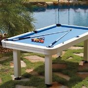7and039 St. Croix Outdoor Pool Table - Accessories Included