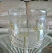 Moving Sale Palm Trees On Clear Plastic Ice Bucket With Lid And Handle