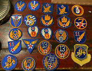 Vtg. Usaaf Patches 1-15th20th Air Forces 23 Total Pieces Orignal No Glow