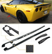 Hydro Carbon Fiber Zr1 Style Side Skirts And Mud Flaps Fits 05-13 Corvette C6 Z06