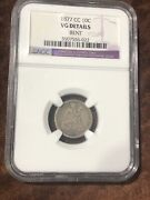 1877 Carson City Seated Liberty Dime Ngc Vg Details Bent 90 Silver