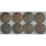 Ww1 Us Army Uniform Large Buttons Scovill Waterbury Antique Lot Of 8
