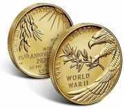 End Of World War Ii 75th Anniversary 24-karat Medal Proof Coin W/omp - Sold Out