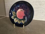 """Moorcroft """"finches Blue""""4 Dish Made In England 1992 Sally Tuffin Design"""