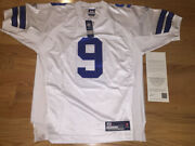 Tony Romo Autographed Authentic Nfl White Reebok Jersey Uda Upperdeck With Tags