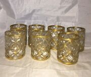 7 Imperial Glass Sortijas De Oro Gold Double Old Fashioned Whiskey Tumbler