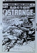 """Doctor Strange """"if This Be Doomsday Gene Colan 1970s Cover Art Transparency"""