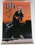 Lita Ford The Runaways Signed Autograph Auto 24x36 Poster