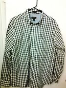 Van Heusen Menand039s Size L 16-16.5 Striped No Iron Long Sleeve Button Front Shirt