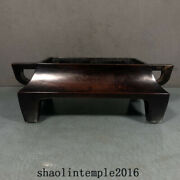 China The Ming Dynasty Red Copper Rectangular Mouth Flat Ear Furnace