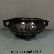Ancient China The Ming Dynasty Red Copper Arabic Language Flat Ear Furnace