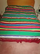 Large Mexican Saltillo Blanket - Fine Weave - 85 X 58