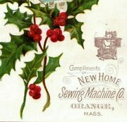 1880's New Home Sewing Machine C.h Bliss Hyde Park, Vt Fab Lot Of 4 P193
