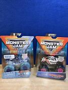 2 Monster Jam Monster Mutt Dalmatian And Northern Nightmare Lot 164 Fire And Ice