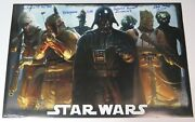 David Prowse Star Wars Esb Signed Autograph 22x34 Poster X6 Bounty Hunters Bas