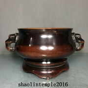 6.8  Rare China Antique The Ming Dynasty Red Copper Elephant Ear Stove