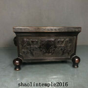 China Antique The Ming Dynasty Red Copper Lionand039s Ear Square Furnace