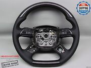 Audi A8 S8 4h No Ring Black Stitch Perforated Flat Bottom Carbon Steering Wheel