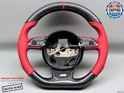 Audi Rs4 Rs5 Rs6 Rs7 Rs3 S5 S4 S3 Red Ring Black Stitch Carbon Steering Wheel V1