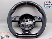 Audi Rs7 Rs6 Rs5 Rs4 Rs3 S5 S4 5mm Silver Rng Alcantara Carbon Steering Wheel V2