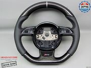 Audi Rs4 Rs5 Rs6 Rs7 Rs3 S5 S4 S3 Silver Ring Napa Carbon Steering Wheel V1