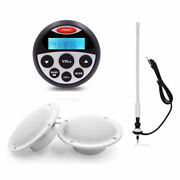 Marine Audio Radio Bluetooth Stereo Receiver + 4and039and039 Speakers + Aerial