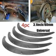 4pc 3.1/80mm Universal Flexible Car Fender Flares Extra Wide Body Wheel Arches