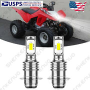 For Honda Sportrax Trx400ex 1999-2008 - 6000k White Led Headlights Bulbs Kit Ytb