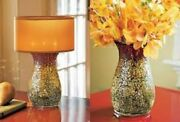Partylite Siena / Sienna Mosaic Lamp W Shade Candle Holder Awesome Lit