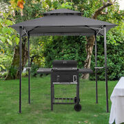 8x5 Ft Outdoor Barbecue Grill Gazebo Canopy Tent Patio Bbq Shelter W/air Vent Us