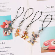 Tom And Jerry Metal Pendant Key Ring Chains Decor Keychain Holiday Gift 4 Pcs