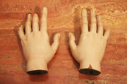 Santos Cage Doll Life-size Pair Of Sacred Hands 18th Century Baroque Religious