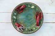 Antique Bordallo Pinheiro, Portuguese Palissy Ware, Lobsters Large Wall Plate