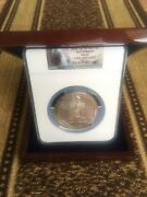 2010 5oz Silver Hot Springs Ngc Ms 69 Early Release